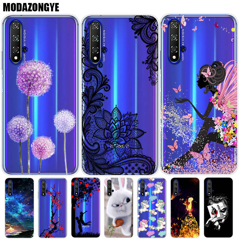 Case For Huawei Honor 20 Phone Case Honor 20 Pro Cover Huawei Honor 20 Pro YAL-L41 Honor20 YAL-L21 Lite Case Silicone Soft TPU image