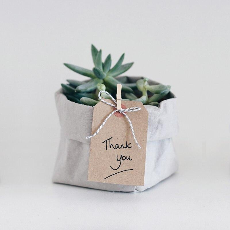 Flowers Bag Washable in Kraft Paper 5