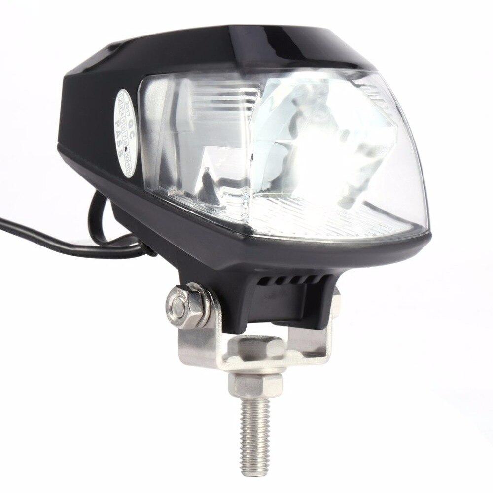 Universal 20W 6000K LED Motorcycle Headlight font b Lamp b font RTD Auto Motorcycle LED Projector