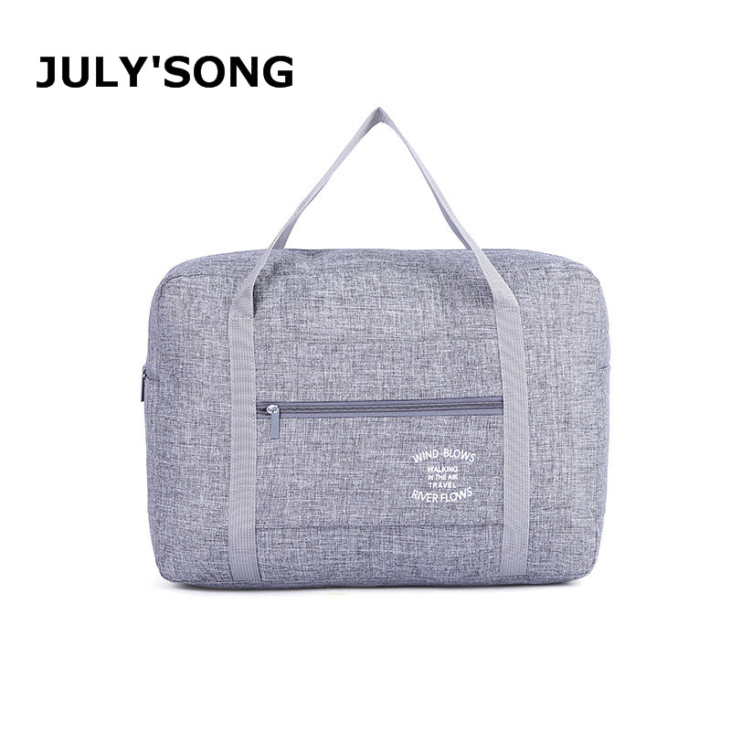 JULY'SONG Oxford Travel Storage Package Waterproof And Portable Organizer Bag Solid Zipper Travel Accessories