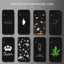 Cute Space Planet Pattern Phone Case For Samsung Galaxy A50 A30 S10 Plus S10e A40 A5 A7 2017 Case Coque Soft Silicone Back Cover