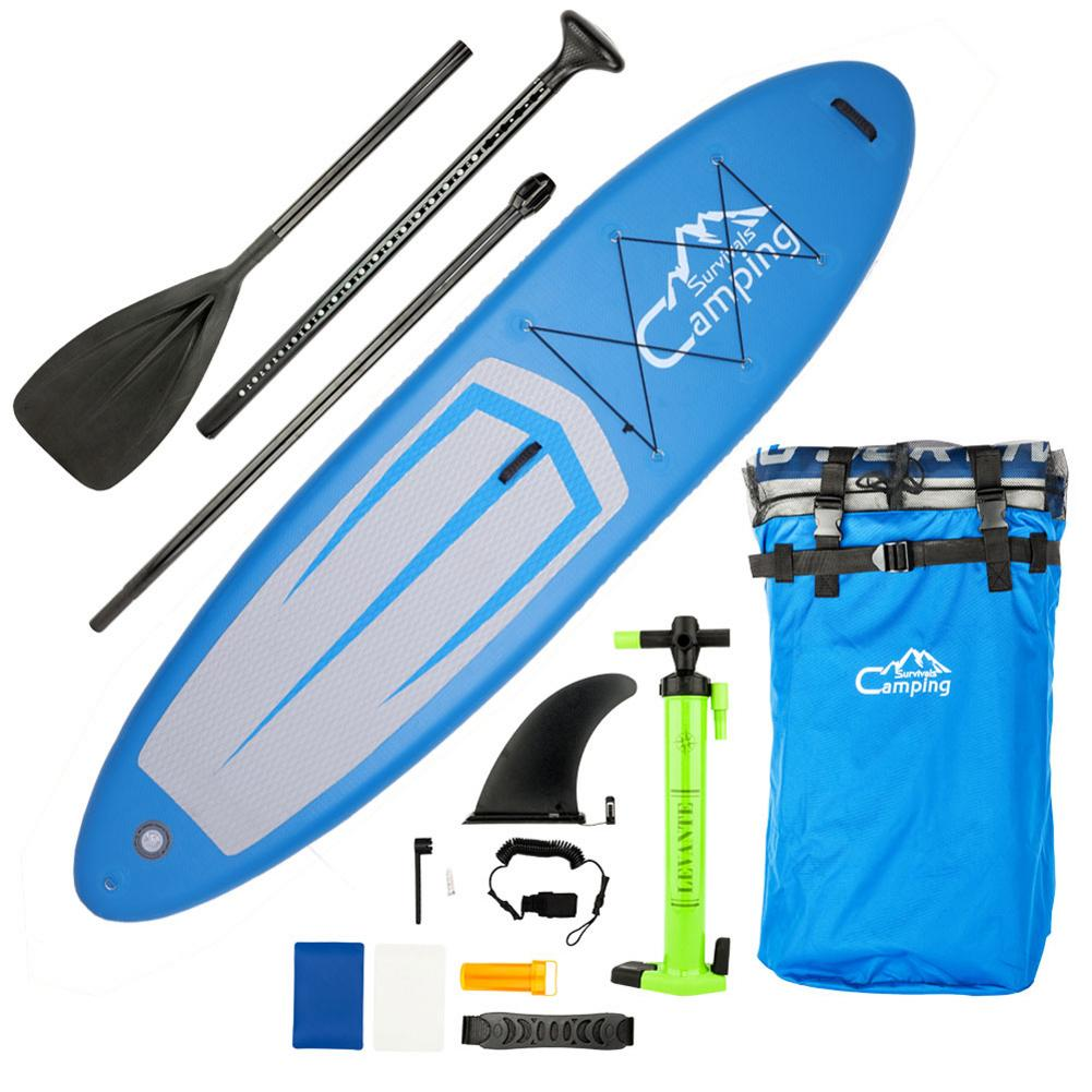 KS-SP1009 11' adulte gonflable SUP Stand Up Paddle Board bleu & gris & noir