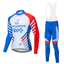 2019 FDJ Pro Cycling Jersey Set Long Sleeve Breathable MTB Bike Clothes Wear Bicycle Cycling Clothing Ropa Maillot Ciclismo
