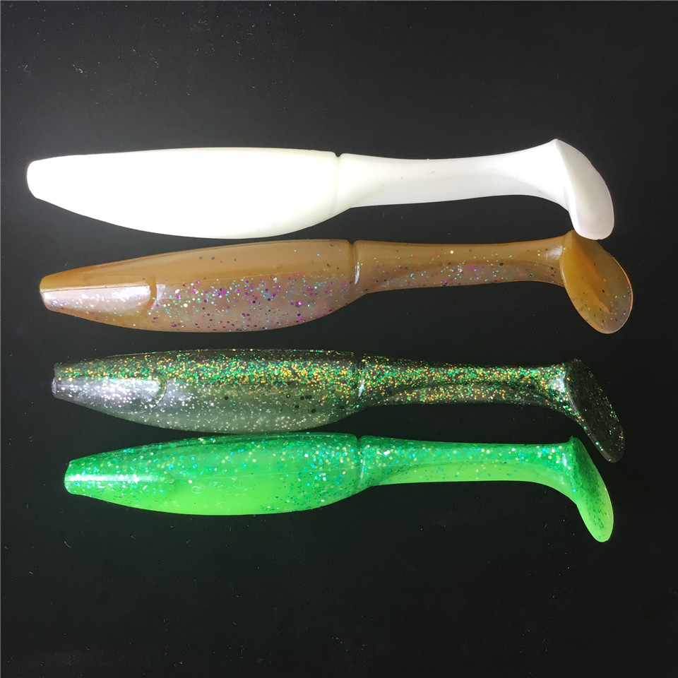 8pcs noeby 15cm artificial soft lure japan shad for Rubber fishing worms