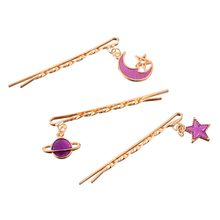 M MISM 3PCS/Set Girls Star Moon Pendant Alloy Hairpins Women Fruit Cute Bag Bowknot Bang Hair Clips Sweet Hair Clamp Accessories(China)