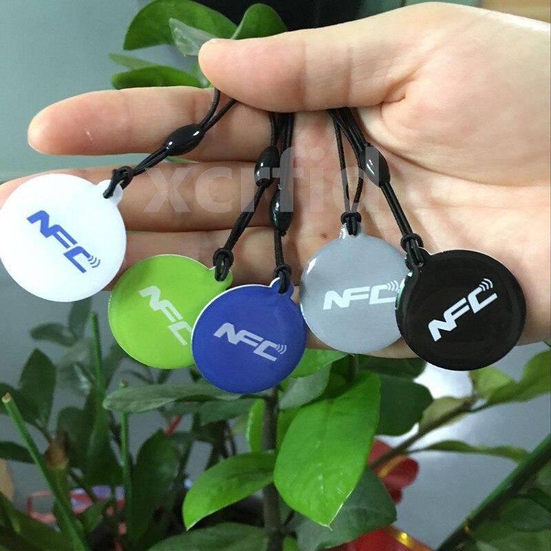 5 ШТ. Ntag215 NFC Смарт-Тегов 540 Байт С ремешком Для Samsung Galaxy Sony Xperia Nokia Nexus7 LG HTC NFC телефон