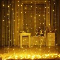 Waterproof 3x3 Meter Curtain Light 300LED Ice Bar Curtain Light IP44 Christmas Light For Indoor Outdoor Wedding garden party dec