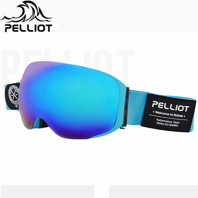 Pelliot Brand Ski Goggles Double Layers Anti-fog UV400 Outdoor Ski Glasses New Skiing Snowboard Glasses Men Women Snow Goggles pelliot brand ski goggles double layers