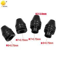 Drill-Chuck Rotary-Tools Mini M7 M8x0.75 Multi-Keyless for Quick-Change-Three-Jaw