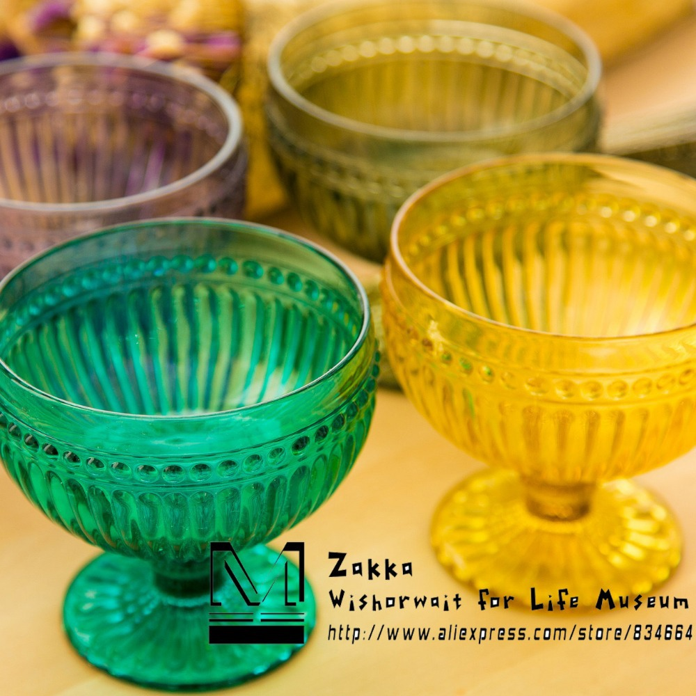 New KEYAMA 1 Pcs Colorful Artificial suppression stripes carved glass - Kitchen, Dining and Bar