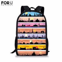 FORUDESIGNS Customize Backpack for Teenager Girl Boy Cool Picture Print School Bag Childrens BookBag Daypack Mochila