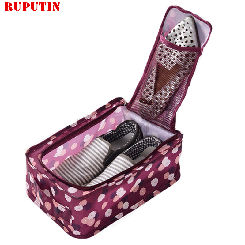 RUPUTIN Portable Women Men Travel Shoes Bag High Capacity Folding Shoes Organizer Bag Travel Accessories Shoes Finishing Package