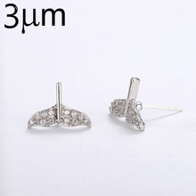 3UMeter New Arrival Earring Zirconia Crystal Hooks Silver 925 Color Long Leaf for Gift