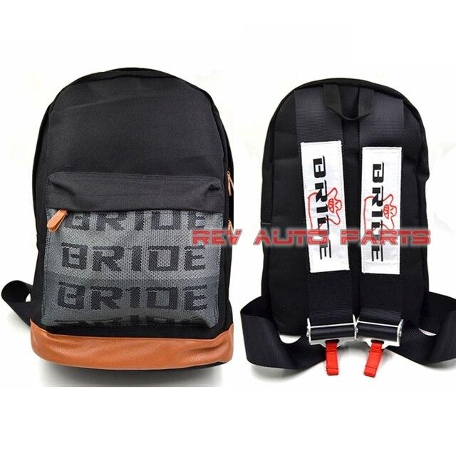 Blue/red/black JDM Bride Racing Backpack Shool Bag Laptop Bag With