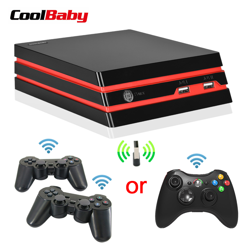 Coolbaby video game console 4K HDMI Output Retro 600 Classic games 64 Bit 2.4G Wireless double Gamepad Console Christmas Gift-in Handheld Game Players from Consumer Electronics    1
