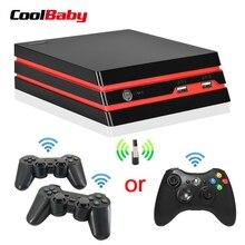 Coolbaby video oyunu konsolu 4 K HDMI Çıkışı Retro 600 Klasik oyunlar 64 Bit 2.4G Kablosuz çift Gamepad Konsolu noel hediyesi