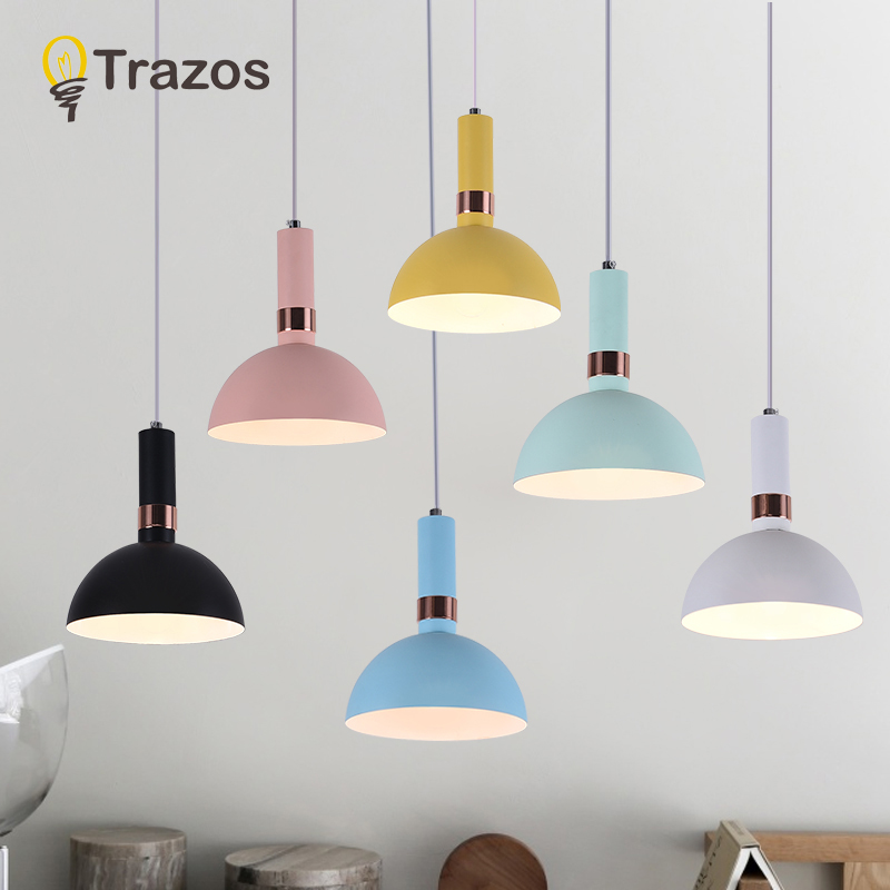 Modern style living room bedroom minimalist restaurant pendant light Nordic clothing decoration metal colour pendant lamp nordic simple living room pendant lamp wood japanese style restaurant light bedroom light cafe decoration lamp free shipping