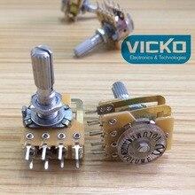 [VK] B100K B50K тайваньский потенциометр позолоченный такой как громкость нарезание двойной длинный переключатель 25 мм 8 pin шаг рахис