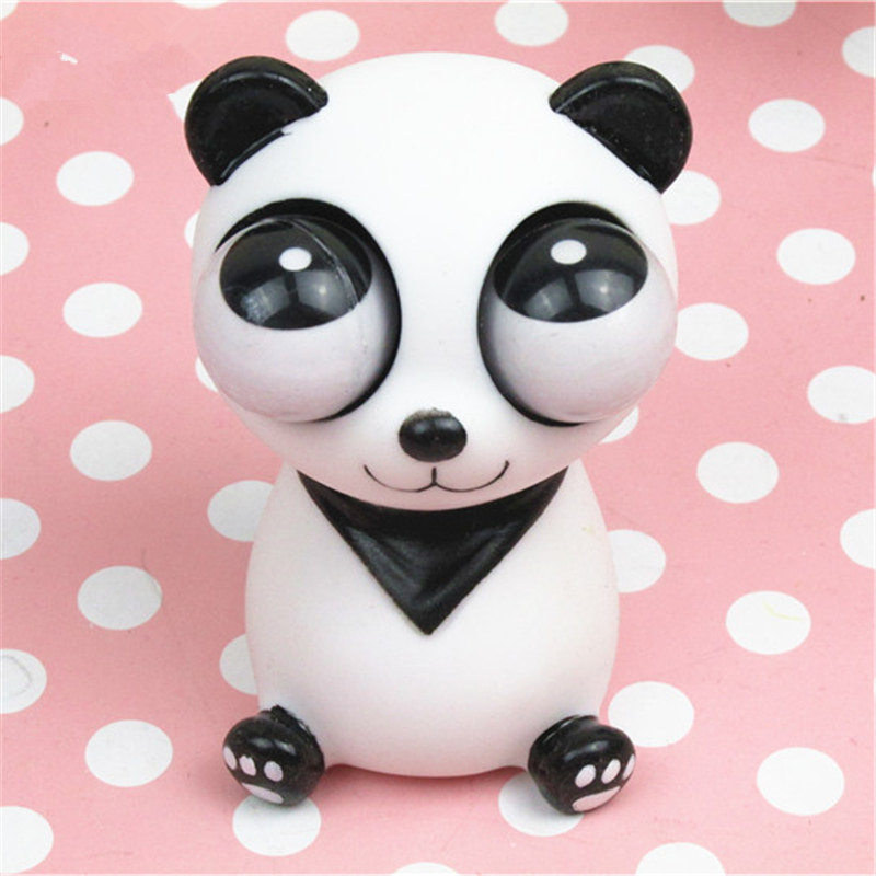 Pop Out Eyes Doll Funny Cartoon Panda Bear Woif Model Squeeze Antistress Toy Stress Relief Venting Joking Toy Decoration Gift