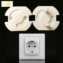 10 pieces/lot 2-hole round sockets for child baby safety Electric shocker cap children protection electric shocker Safes TAQS23