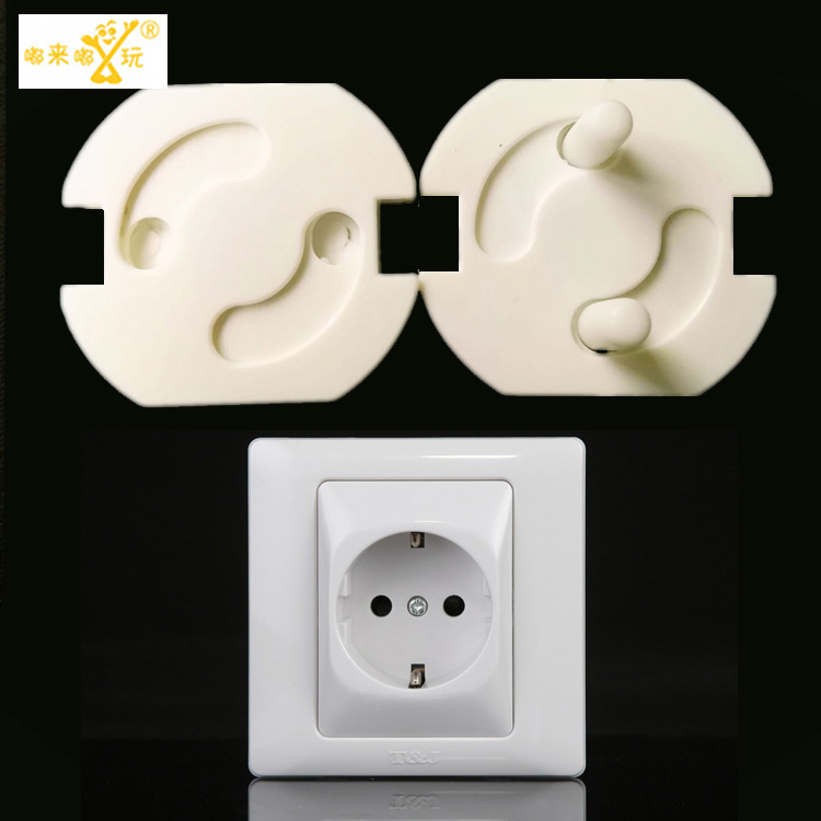 2016 5 PIC/lot 2-hole round sockets for child baby safety Electric shocker caps for children protection electric shocker Safes