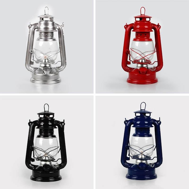Retro Classic Kerosene Lamp 4 Colors Kerosene Lanterns Wick Portable Lights Adornment DTT88