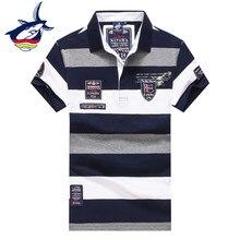 Men clothes 2018 Tace & Shark polo shirt men classic casual brand polos para hombre striped cotton breathable camisa polo hombre