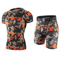 New Hot Sale Men S Training Exercise Sport Wear Fast Drying Breathable Sport Shirts And Shorts