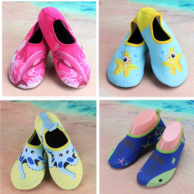 bc325ef49 ... Kids Quick Drying diving socks Swim Water Shoes girls boys LightWeight  Footwear Barefoot For Beach Pool ...