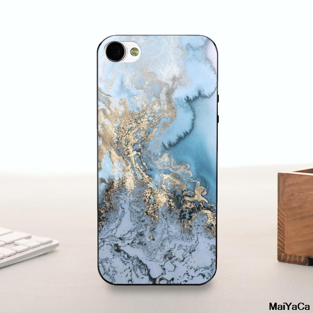 Oro azul gris mármol diseño diy pintado hermosa accesorios del teléfono para el