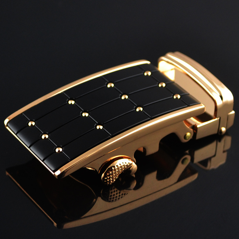 3.5cm Width Automatic Belt Buckle Luxury Brand Design Male Belt Buckl Silver Gold Plaid Dot CE751