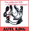 8 Car Cables Set for CDP for Cars OBD Connector (Only Cables) with Free Shipping