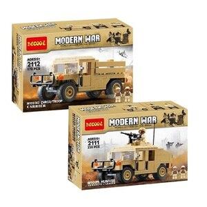 Image 1 - Décool 2111 2112 guerre M1025 Cargo voiture Hummer soldats américains jouets blocs de construction pour legos guerres militaires ensemble pour figurine LPS