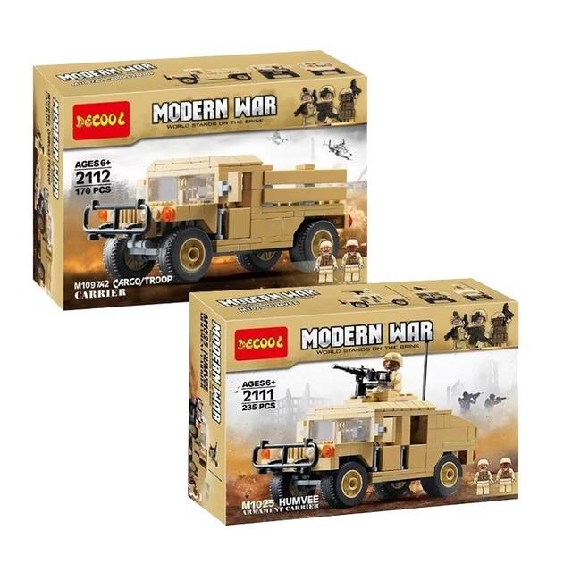 Décool 2111 2112 guerre M1025 Cargo voiture Hummer soldats américains jouets blocs de construction pour legos guerres militaires ensemble pour figurine LPS