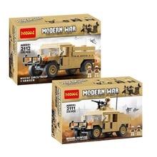 Decool 2111 2112 Oorlog M1025 Cargo Auto Hummer Ons Soldaten Speelgoed Bouwstenen Voor Legoes Militaire Wars Set Voor Minifiguurtje lps
