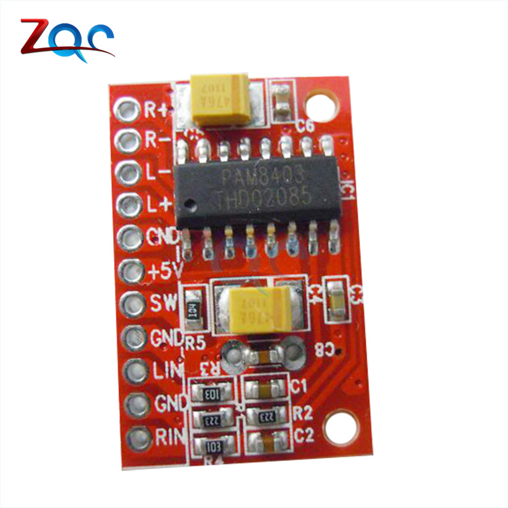 3w 2 mini digital power audio amplifier board diy stereo usb dc 5v power supply pam8403 module. Black Bedroom Furniture Sets. Home Design Ideas