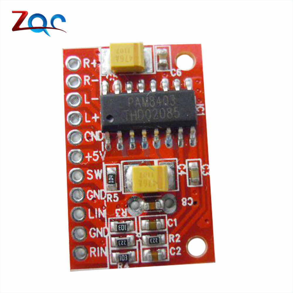 3W*2 Mini Digital Power Audio Amplifier Board DIY Stereo USB DC 5V Power  Supply PAM8403 Module for Arduino 3W X 2