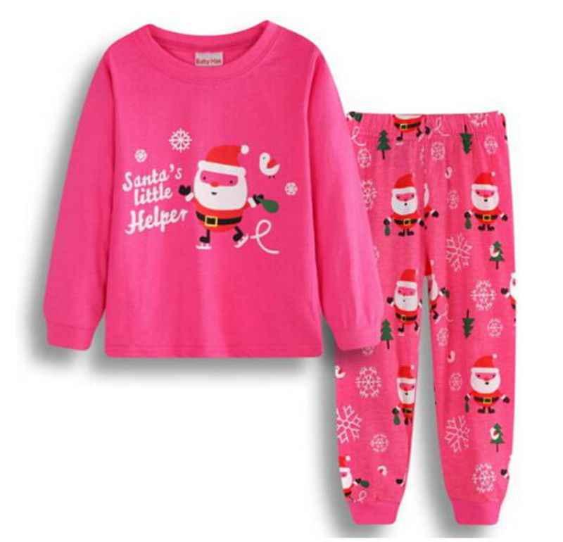 New Boys Girls Vetement Enfant Fille Pajama Sets Children Christmas Pajamas  Kids Cotton Sleepwear Xmas Pijamas 7005f3da9