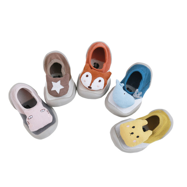 2019 Cartoon Animals Cute Style Baby First Walkers Shoes Indoor Non-slip Soft Bottom Toddler Girls & Boys Casual Shoes
