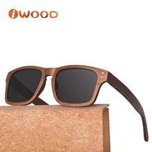 WL107 2018 women New trends polarized lens fashion cool Laminated wood Sunglasses Beach with cut frame sunglasses