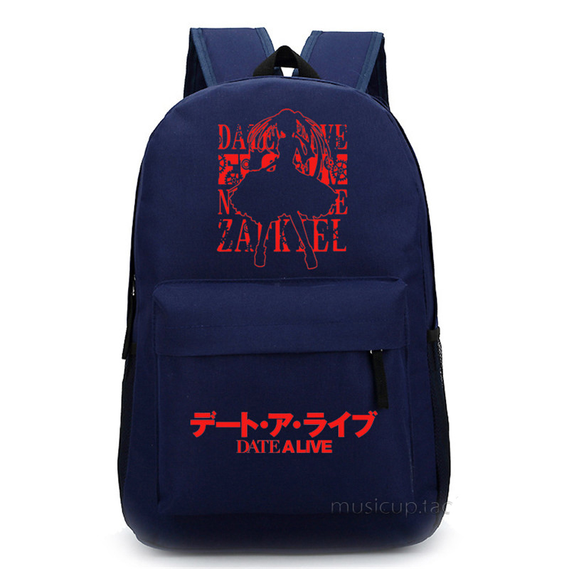 DATE A LIVE Tokisaki Kurumi 4 Choices Unisex School Bag for Teenagers Women Bakpacks Free Shipping