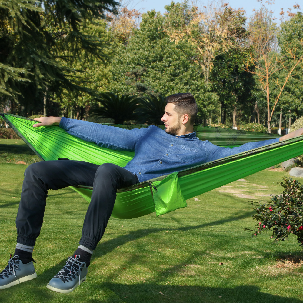 Drop Shipping New Camouflage Parachute Hammock Outdoor Tent Hamac Garden Furniture Swing Hamaca Hangmat Camping Hammocks