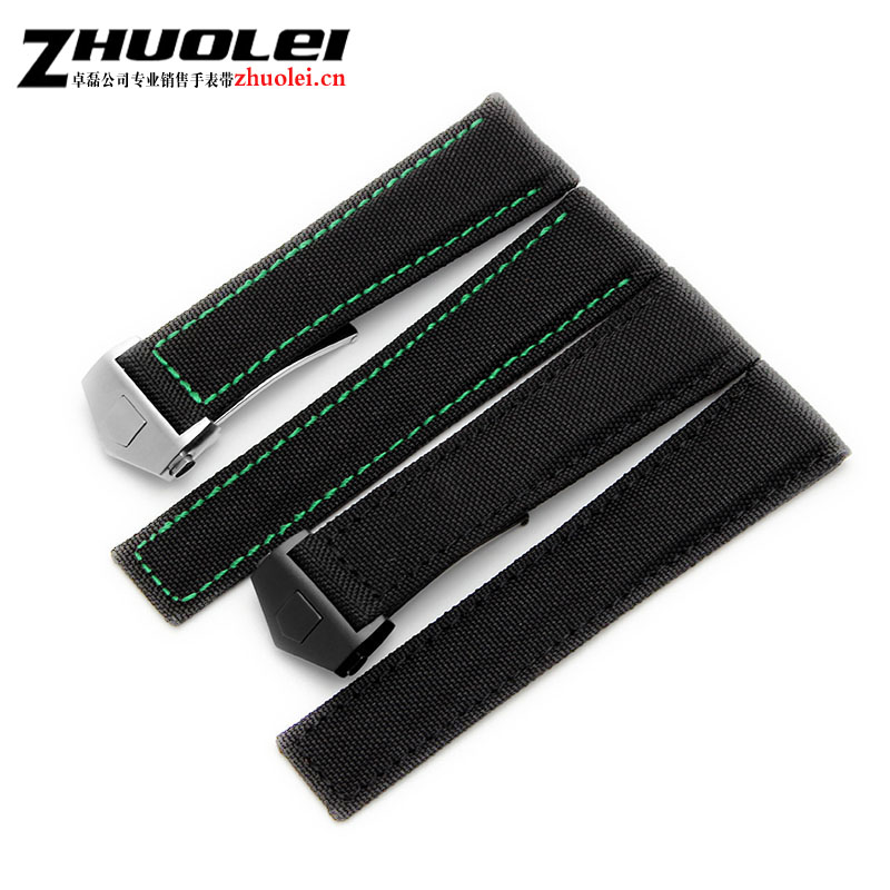 Hot sell 22mm Top grade black Genuine Leather Watch Band Strap Bracelets 4 colour deployment Watch buckle For hy watchband все цены