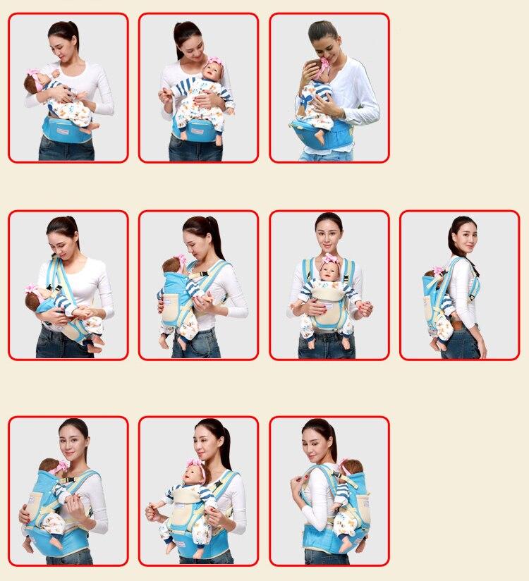 New 0-36 months 30kg storage kangaroo ergonomic hipseat baby carrier sling hip