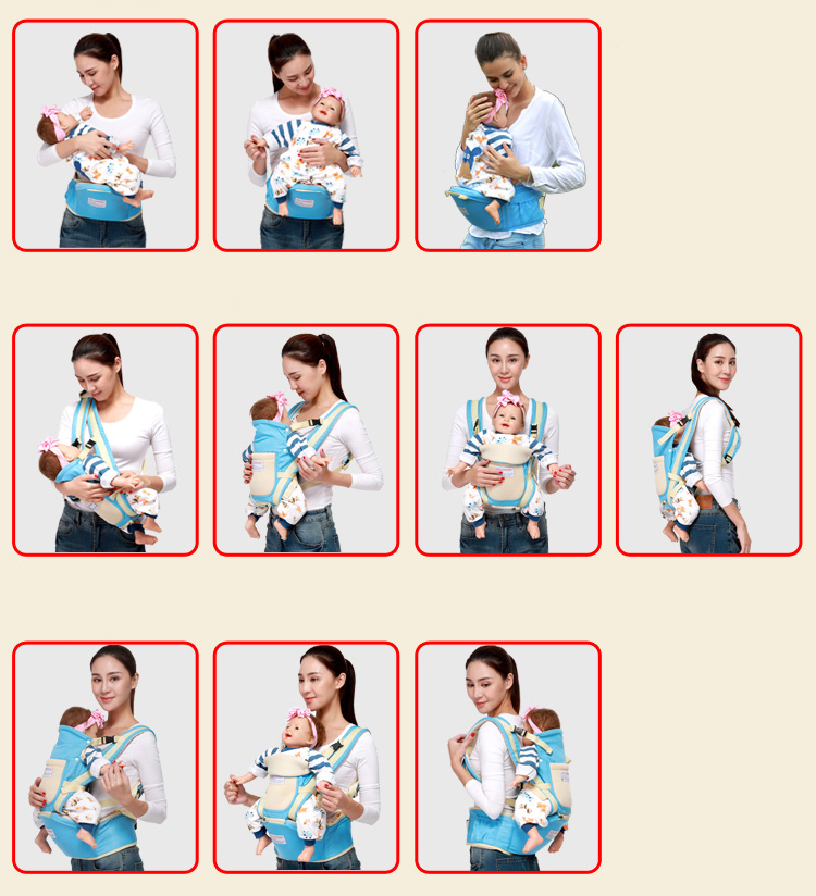 0-36 Months Ergonomic Baby Carrier And Breathable Hip Seat Kangaroo Sling For Newborns 5