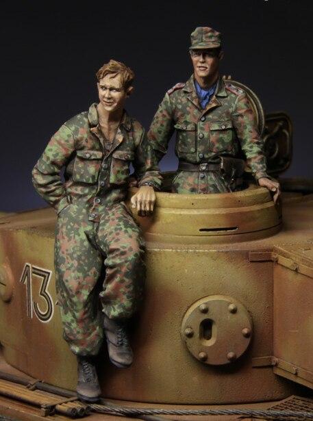 1: 35 Waffen-SS Besætning af en tysk tank, Kursk 1943