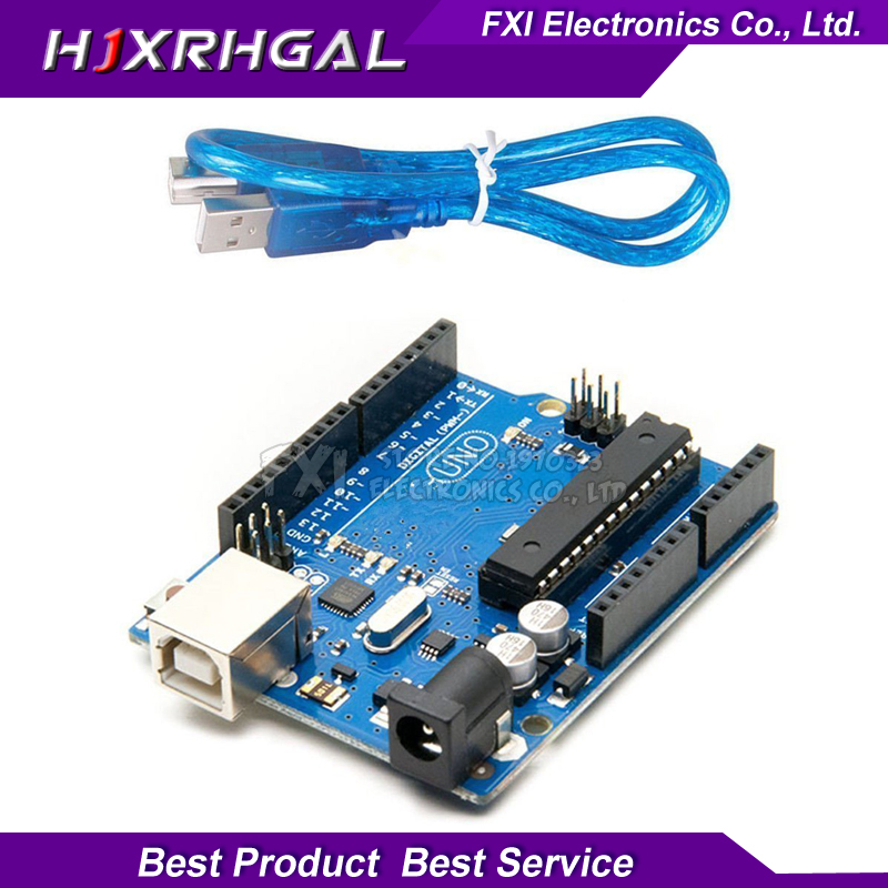 UNO R3 pour Arduino (avec LOGO) MEGA328P ATMEGA16U2 DIP QFP 1 pcs UNO R3 + 1 pcs câbles