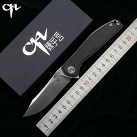 CH3516 Флиппер складной нож s35vn стали TC4 Титан + углерода fibe ручка Открытый Отдых охотничий Карманный фрукты Ножи EDC инструменты