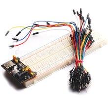 MB102 830 Точек Solderless Макет ПЕЧАТНОЙ ПЛАТЫ + Питание + 65 шт. Соединительный Кабель Провода для Arduino Raspberry Pi