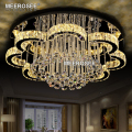 New LED Modern Chandelier Crystal Lamps Round Flower LED Light Fixture Lustre Living Room Chandelier Lampadario Lights for Hotel